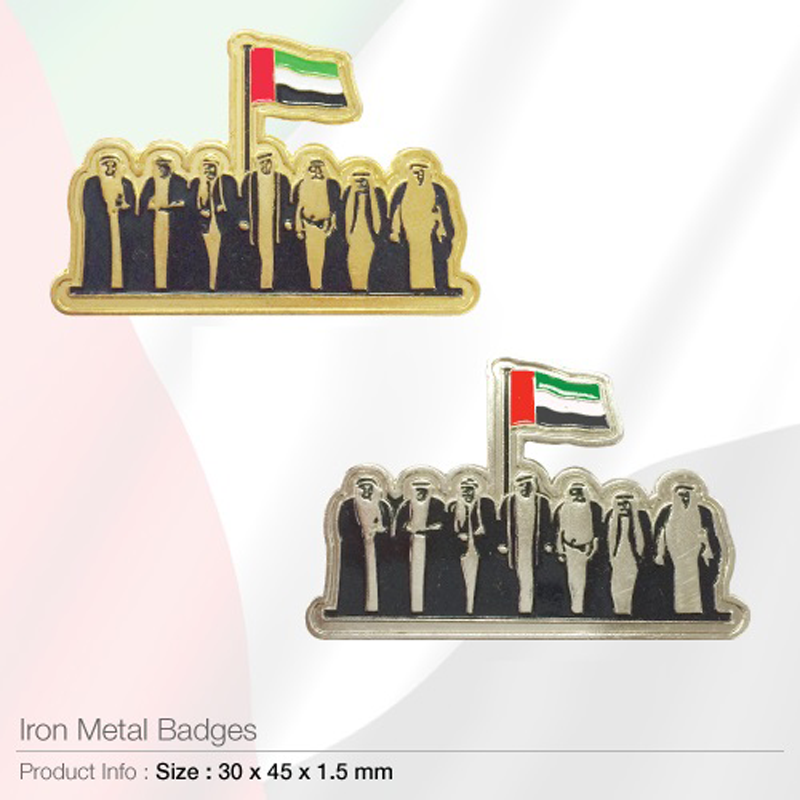 National Day Badges Gold and Silver
