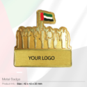 National Day Golden Badges with Magnet