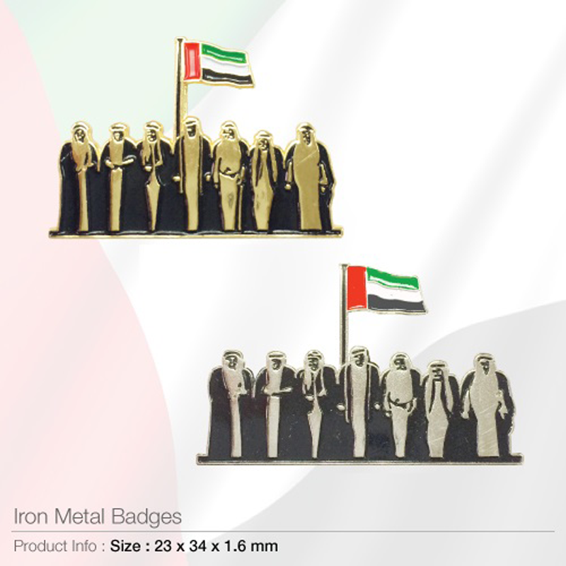 National Day Iron Metal Badges