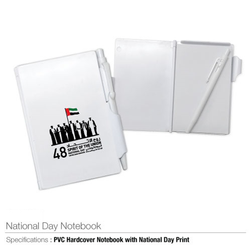 National Day PVC Hard Cover Notepad