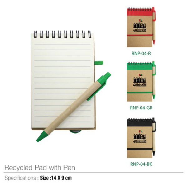 National Day Recycled Pad with Pen