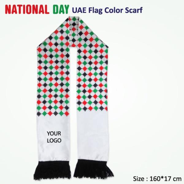 National Day UAE Flag Color Scarf