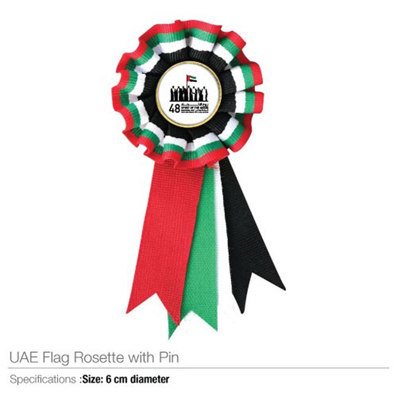 National Day UAE Flag Rosette