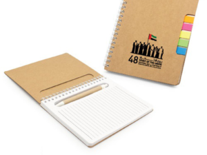 UAE Day Notebook with Sticky Note and Pen