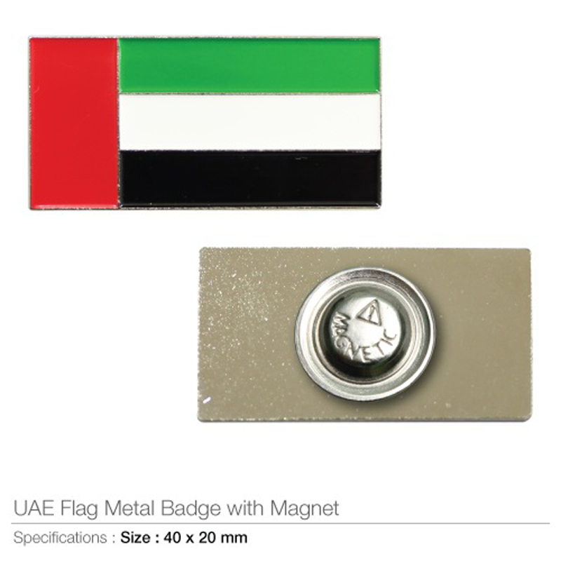 UAE Flag Badges in Metal with Magnet