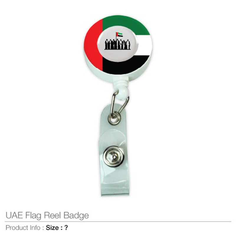 UAE Flag Design Reel Badges