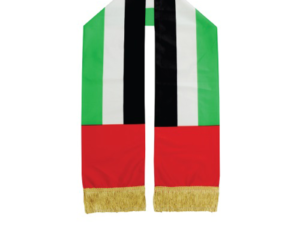UAE Flag Wrap Knitted Scarf