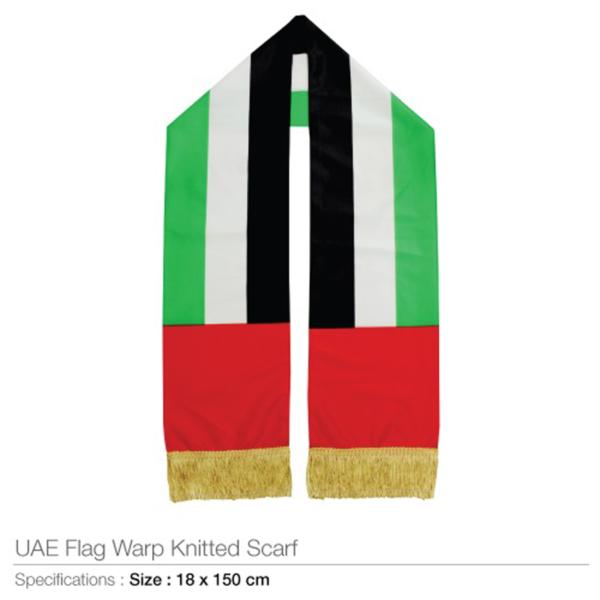 UAE Flag Wrap Knitted Scarf