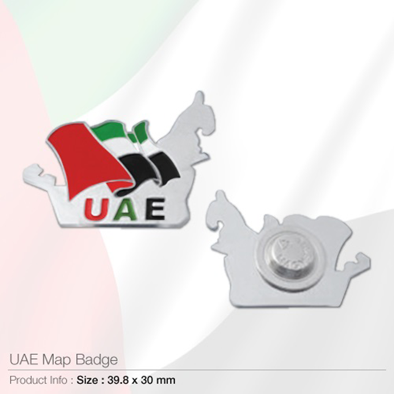 UAE Map Shape Flag Badges