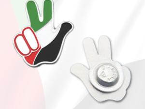 UAE Peace Sign Badges