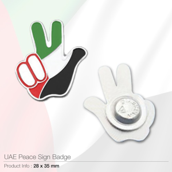 UAE Peace Sign Badges